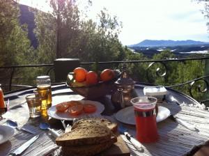 breakfast view Altea Swiss Cabin