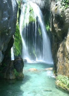 Algarwatfalls, Algar River, wooden cabin holiday rental at Casa del Paso, Bolulla, Algar Waterfalls,El Castell de Guadalest, Altea, Benidorm, Costa Blanca, Spain